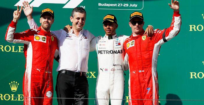 Hamilton lidera de principio a fin en Hungaroring, con Alonso y Sainz en los puntos