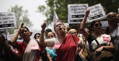 Protesta en India en contra de las violaciones a mujeres. / EP