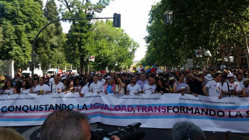 Manifestación por el orgullo gay en Madrid. / EP