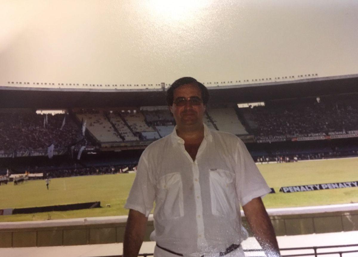 Andrés Chaves, en el estadio Maracaná. Tuvo suerte. DA