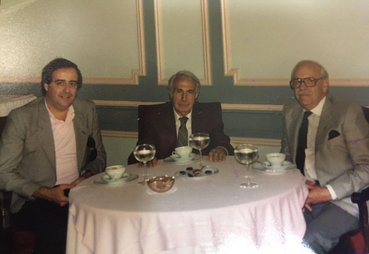 Chaves, José Antonio Rial y Mauricio Gómez-Leal, en el hotel Tamanaco. DA