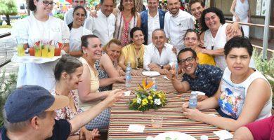 Menú solidario elaborado por estudiantes de cocina de Añaza