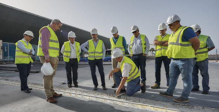 La dársena para las guaguas urbanas del Intercambiador estará operativa tras el verano