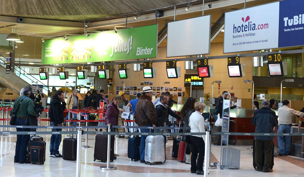 Una imagen de la terminal de salidas y facturación del Aeropuerto Tenerife Norte. DA