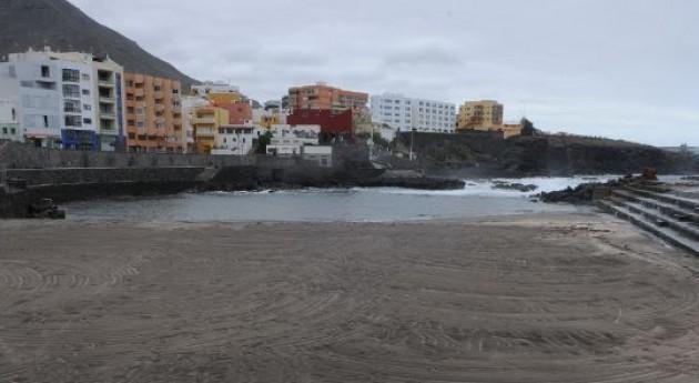 Playa del Castillo, en Bajamar.   DA