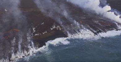 Lava del Kilauea cayendo al mar. / USGS