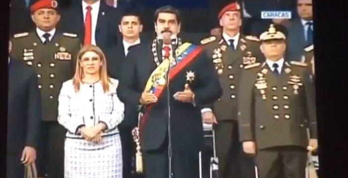 Evacúan a Maduro tras una fuerte explosión mientras daba un discurso