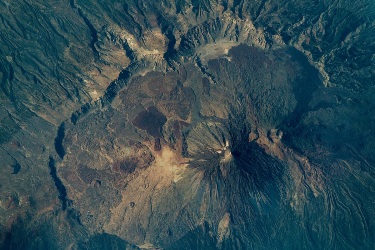 El Teide, visto desde la ISS. / TWITTER ALEXANDER GERST