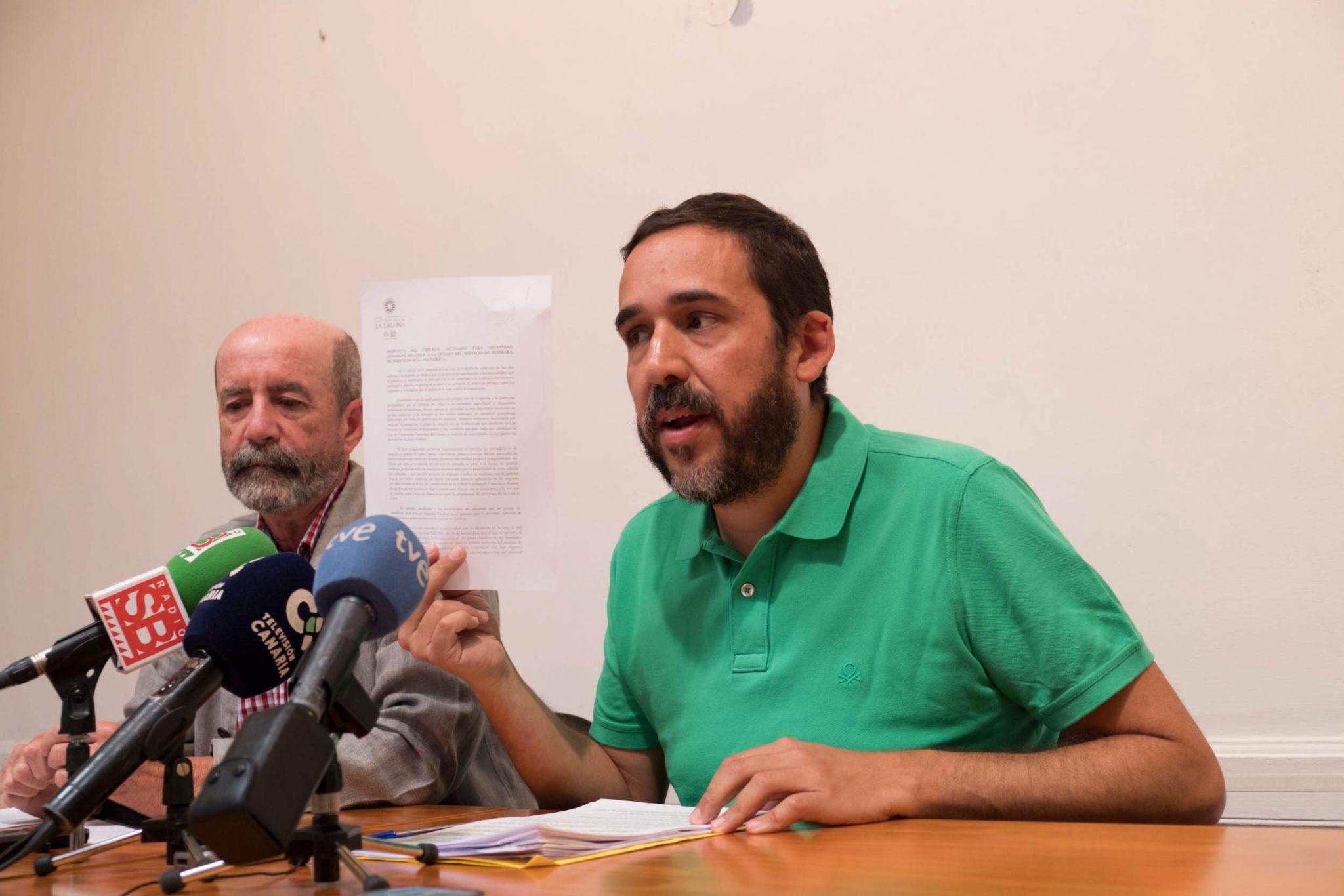 """Ascanio asegura que privatizar las grúas cuesta un millón más que la gestión municipa"""""""