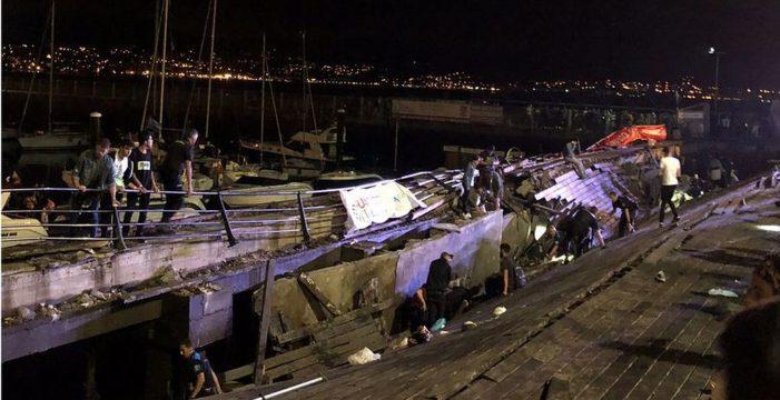 Más de 300 heridos, 9 graves, tras un derrumbe durante un concierto en Vigo