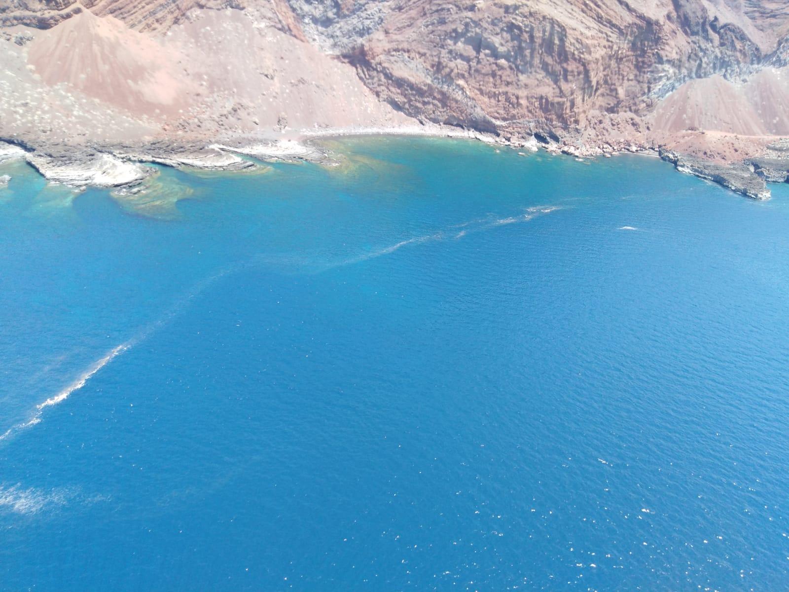 Microalgas aparecidas este miércoles en el Mar de las Calmas. / TWITTER GOB. CANARIAS