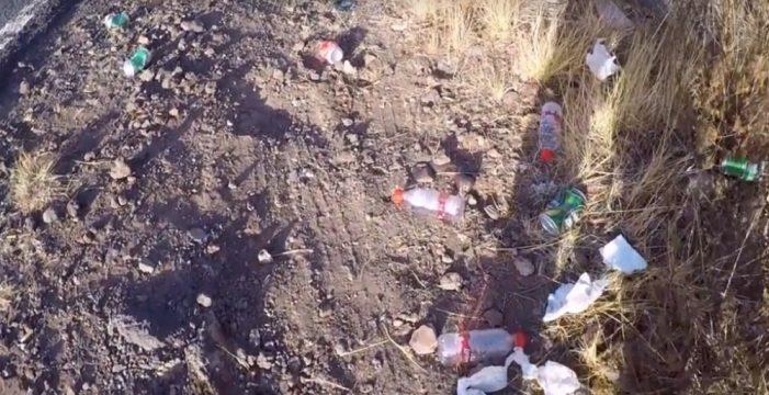 Gran cantidad de basura tirada en la peregrinación a Candelaria
