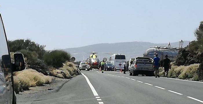 Una turista fallece de un infarto en el Teide