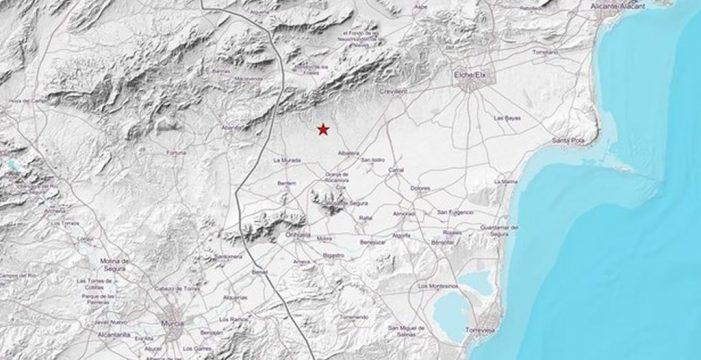 Registrado un terremoto de magnitud 4,2 en Alicante