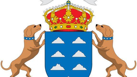 La reforma del Estatuto le quita el collar a los canes en el escudo oficial de Canarias
