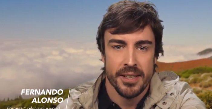 Fernando Alonso prefiere El Teide y lo dice así en su cuenta de Twitter