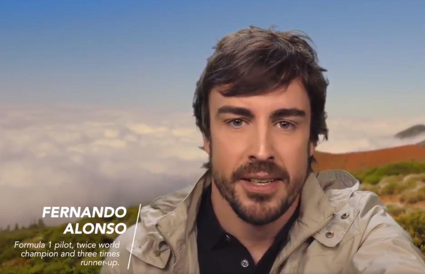 Fernando Alonso elige el Teide. / TWITTER