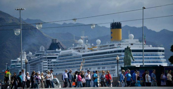 Canarias recibe 1,4 millones de cruceristas hasta agosto, un 9,61 % más