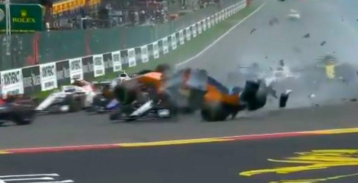 Espeluznante accidente de Fernando Alonso en el GP de Bélgica