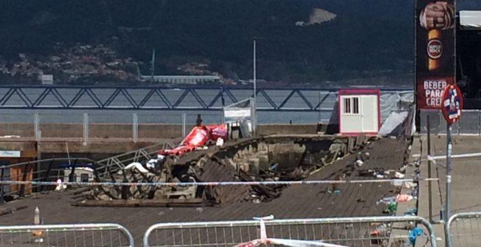 Siete personas permanecen ingresadas y se elevan a 377 las atendidas por el derrumbe en Vigo