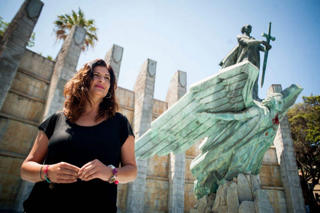 Carmen Luisa Castro propone ahora que el conocido como Monumento a Franco sea trasladado a Güímar, en el caso de que finalmente Santa Cruz quiera desprenderse de él. Fran Pallero