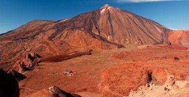 Una imagen del edificio principal del estratovolcán del Teide. DA