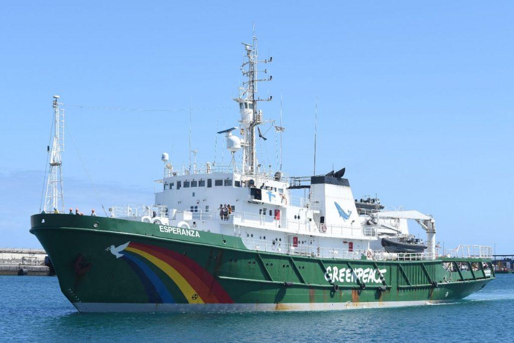 El barco Esperanza de Greenpeace permanecerá hasta el próximo lunes en Tenerife y podrá ser visitado desde esta tarde y hasta el domingo. Sergio Méndez
