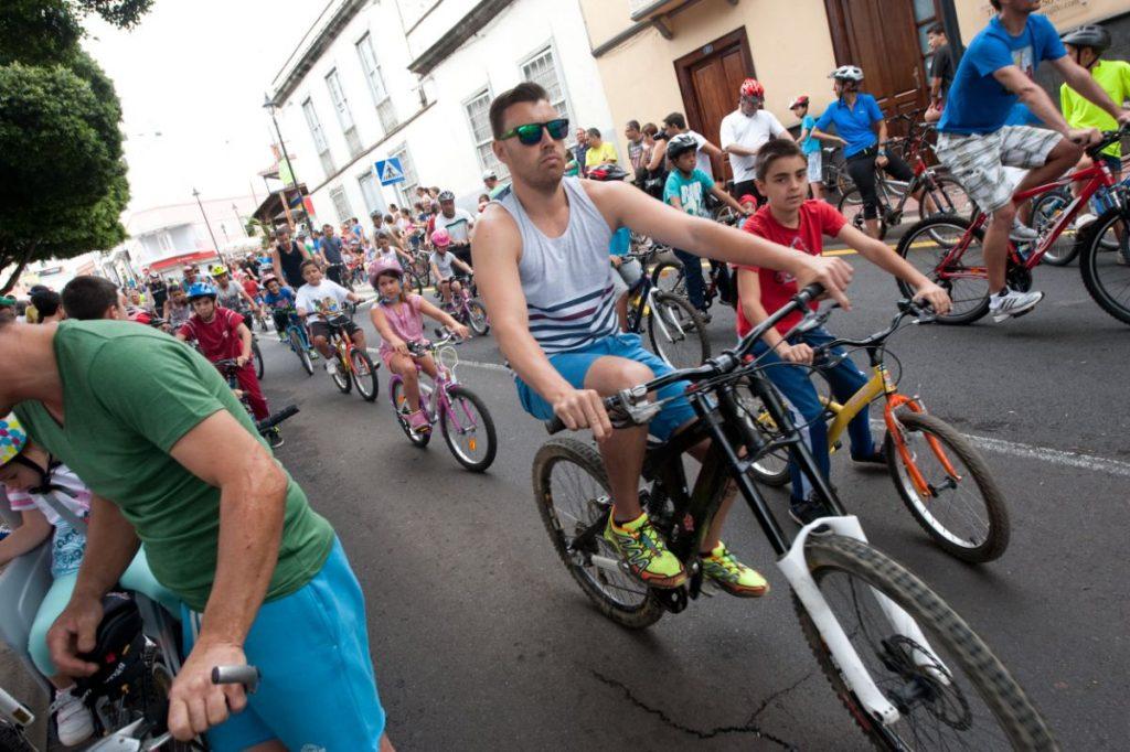 Celebración de la Fiesta de la Bicicleta, en el pueblo de Tejina. | Foto: Fran Pallero