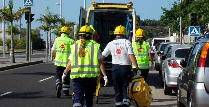 Un motorista herido tras chocar contra un turismo en El Rosario
