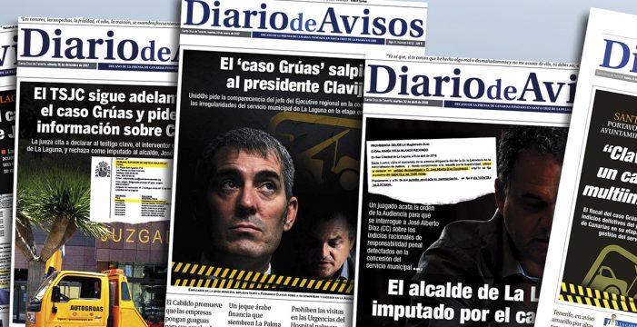 La grúa judicial que arrastra a Clavijo tiene un largo recorrido