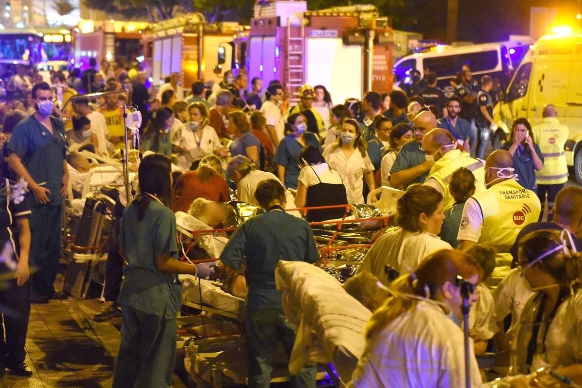 Incendio hospital La Candelaria