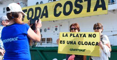 Los informes de Greenpeace sitúan a Canarias a la cabeza de España en destrucción de costa