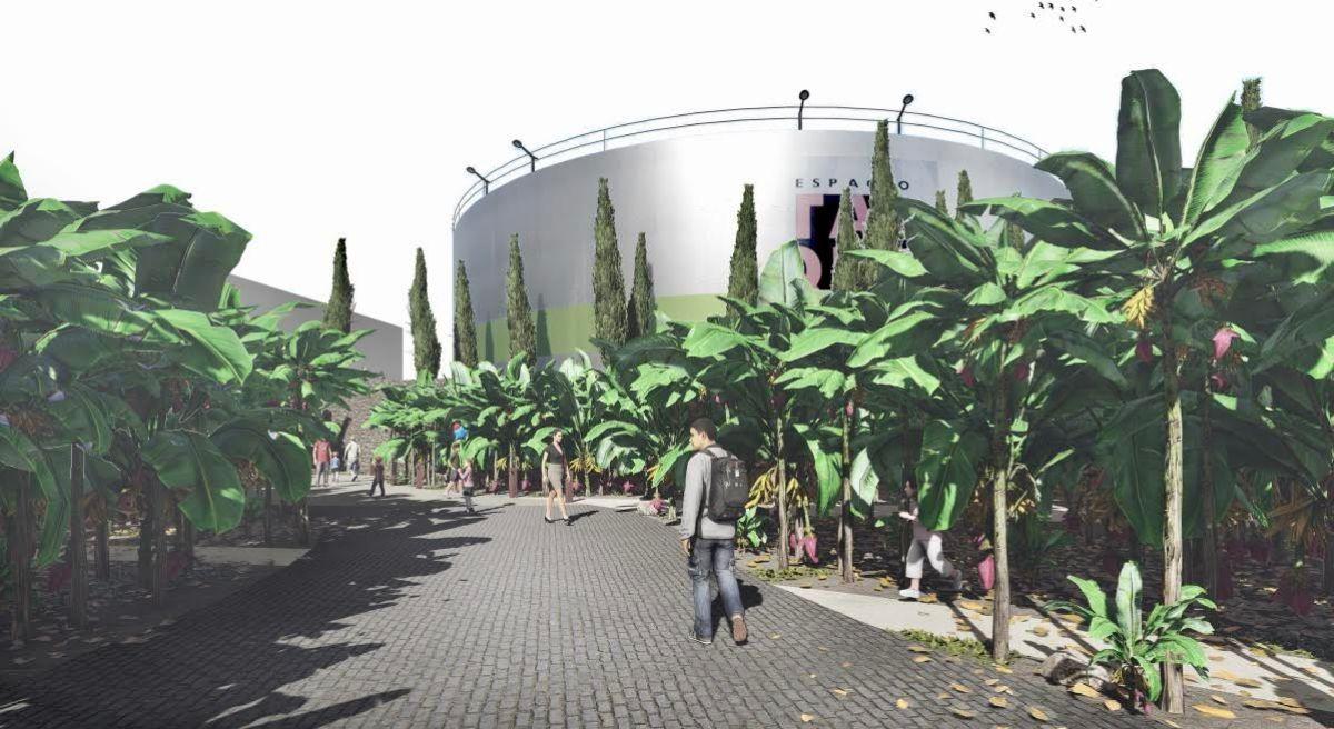 Proyecto de Fernando Menis para el Espacio Cultural El Tanque. / DA