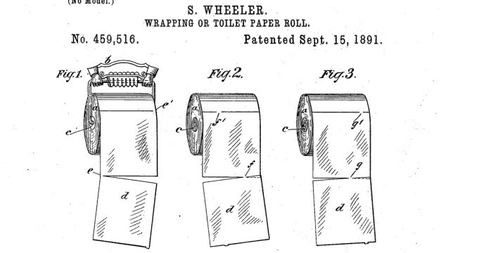 Se acabó el debate: el papel higiénico se coloca así, según una patente de 1891