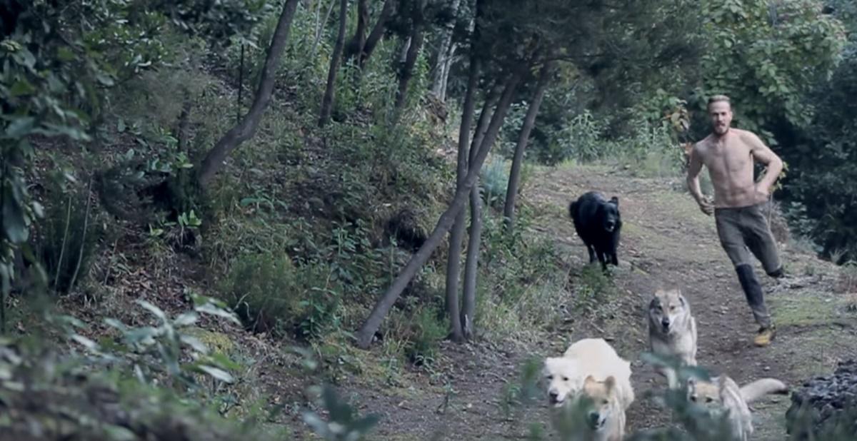 Cristian Mesa, con sus perros en los montes de Tenerife. / YOUTUBE