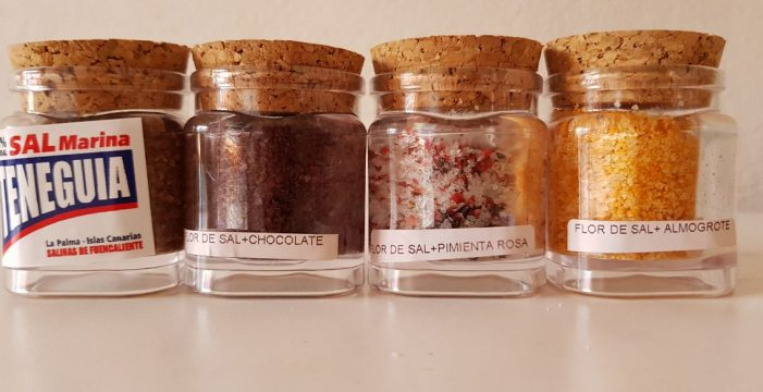 La flor de sal de Fuencaliente, ahora también con chocolate, almogrote, café y pimienta rosa