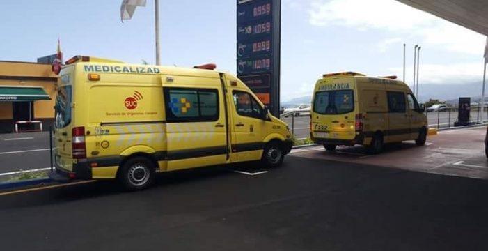 Tres equipos del SUC ayudaron a la parturienta de la gasolinera