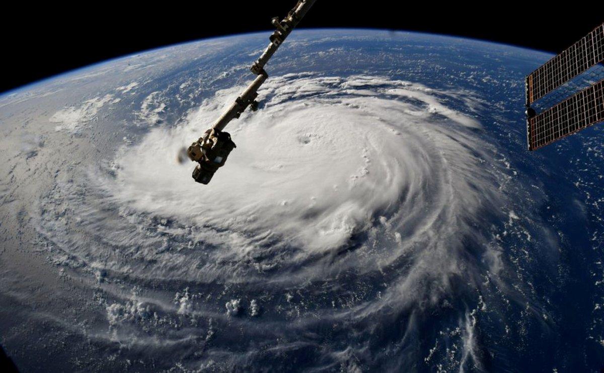 El huracán Florence, visto desde el espacio. / EP