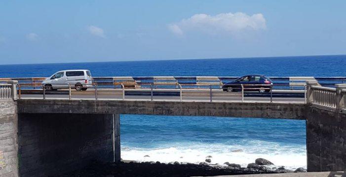 La estructura del puente del barranco de Las Nieves está en buen estado