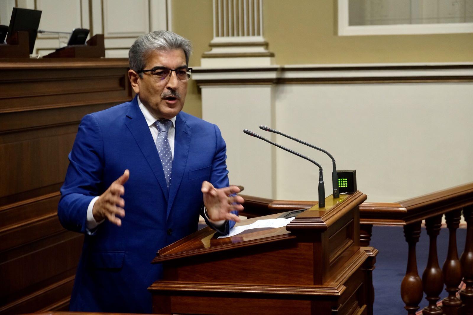 Román Rodríguez, presidente de Nueva Canarias. | Fran Pallero