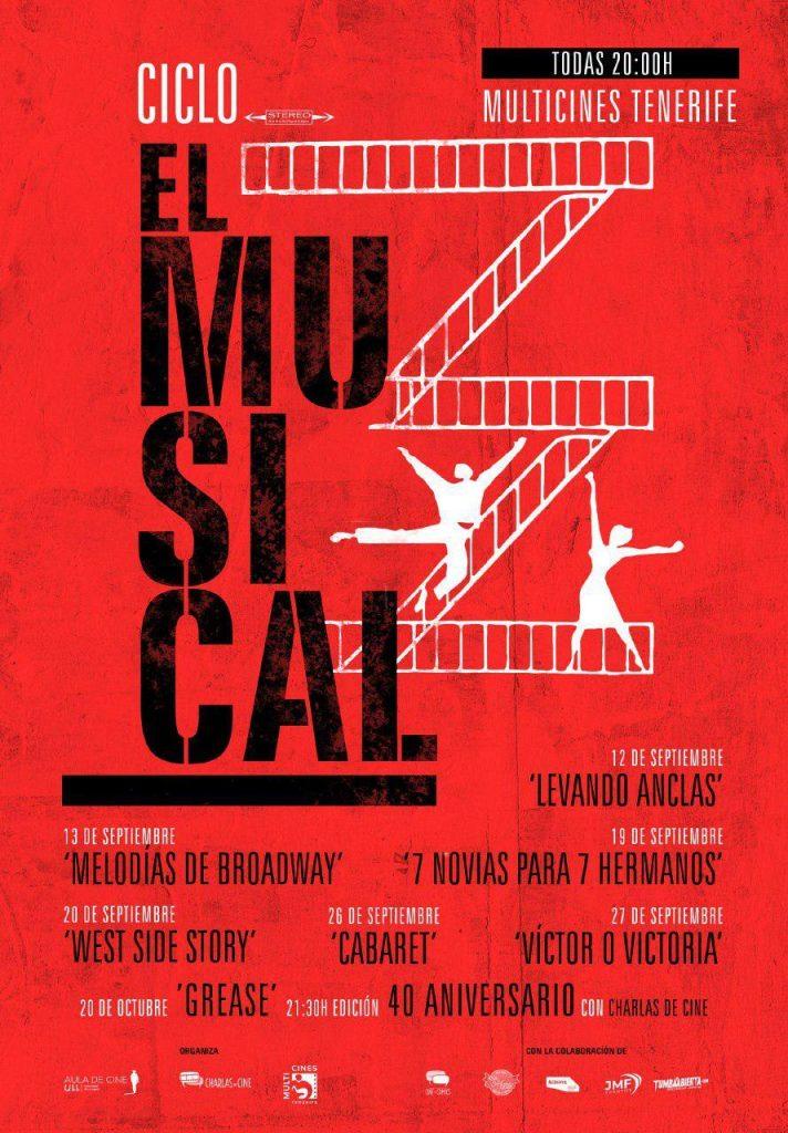 Cartel del ciclo 'El Musical', del Aula de Cine de la Universidad de La Laguna. | DA