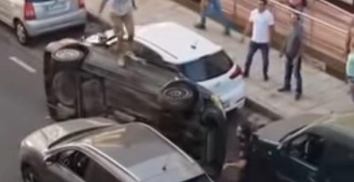 Prisión para el hombre que volcó un coche robado en la persecución policial de Arrecife