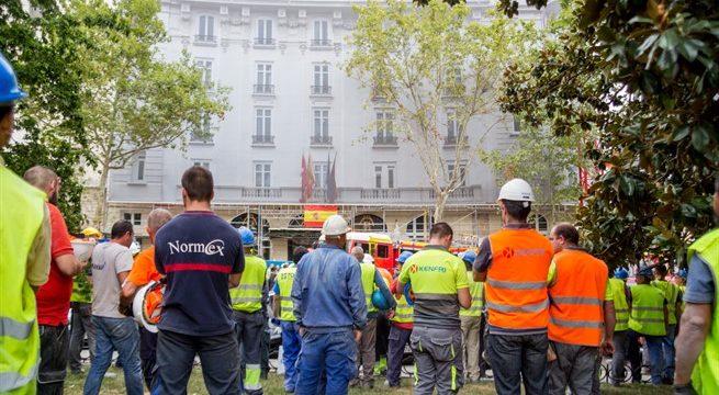 Muere un trabajador que había quedado atrapado entre los escombros por el derrumbe en el Ritz
