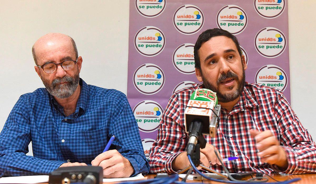 Los concejales laguneros Santiago Pérez (XTF-NC) y Rubens Ascanio (Unid@s se puede). DA