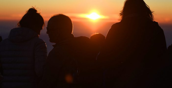 Un atardecer de película desde El Teide