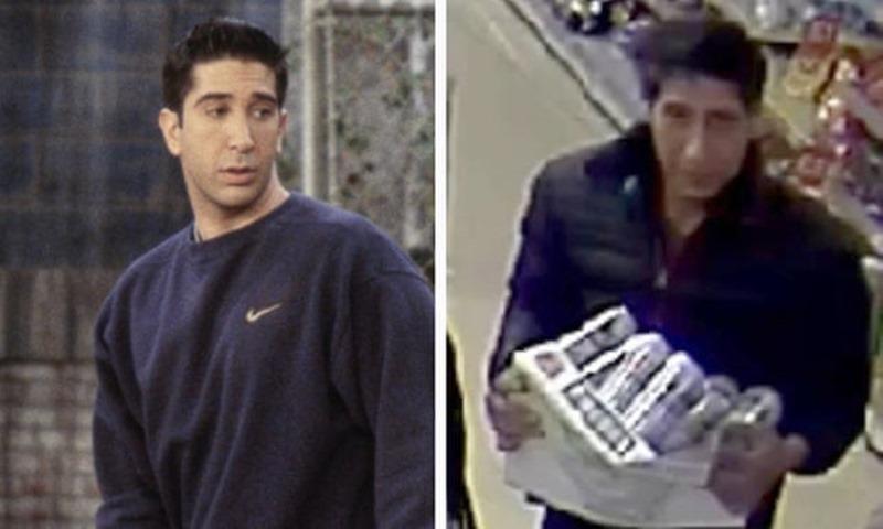 Ross, a la izquierda, y el sospechoso, a la derecha. / TWITTER
