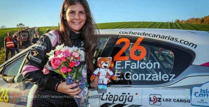 Emma Falcón logra el título femenino en el Europeo  de Rallys