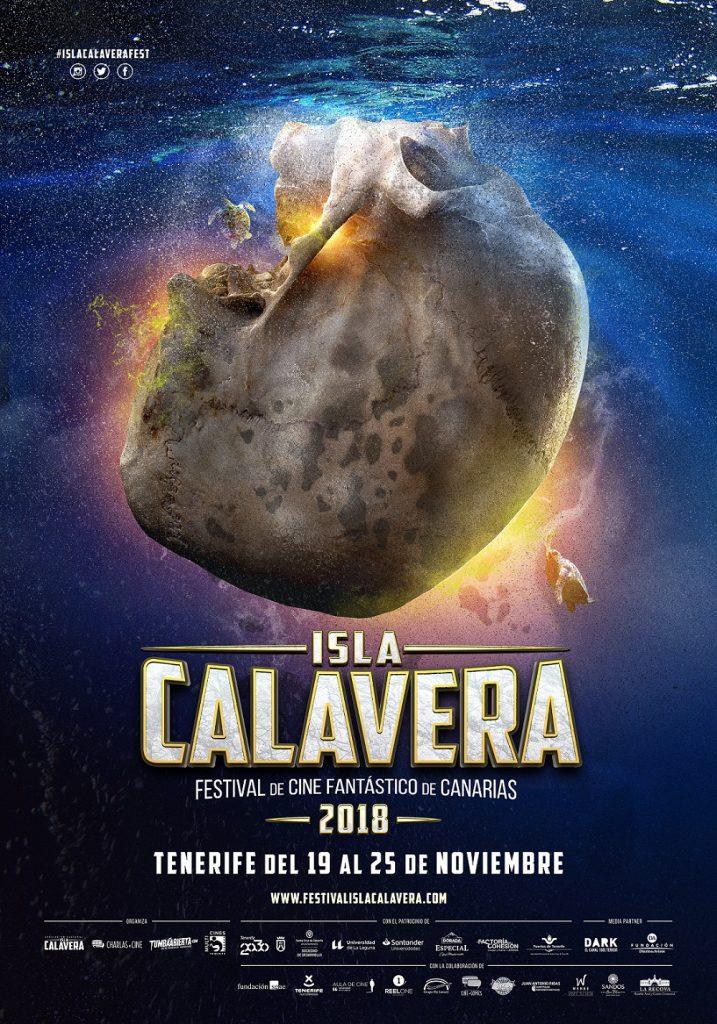 Cartel de la segunda edición anual del Festival de Cine Fantástico de Canarias - Isla Calavera.