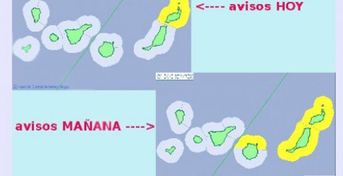 Lanzarote, en alerta amarilla por fenómenos costeros