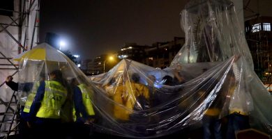 La Virgen de Candelaria vuelve a La Concepción debido a la fuerte lluvia